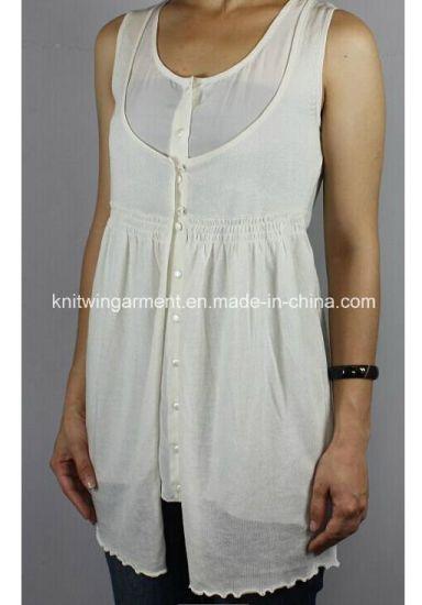 034139f48a896a China Women Fashion Sweater in Round Neck Sleeveless (11SS-008 ...