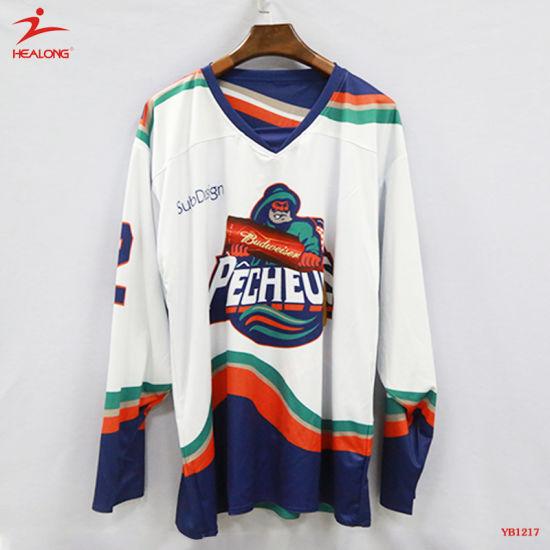 Healong Full Sublimation Craft Bespoke USA Ice Hockey Jerseys