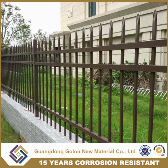 Cheap Black Wrought Iron Yard Fencing pictures & photos