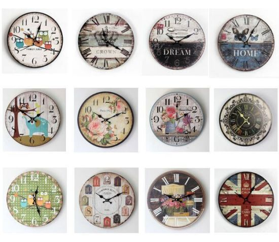Customed Wall Clock Wooden Wall Clock for Promotion