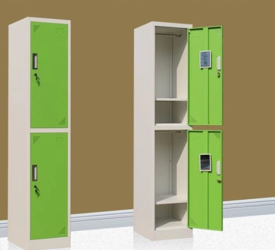Hot Sale Steel Single Two Door Storage Clothes Locker Cabinet
