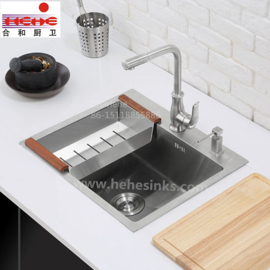 Topmount Stainless Steel Handmade Sink with Cupc Approved, Handcraft Sink, Kitchen Sink (HMTS2320) pictures & photos