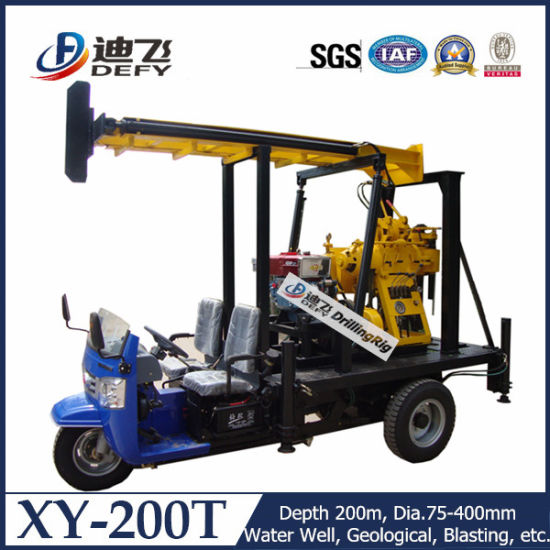 Portable 200m Xy-200t Water Well Drilling Rig Machine