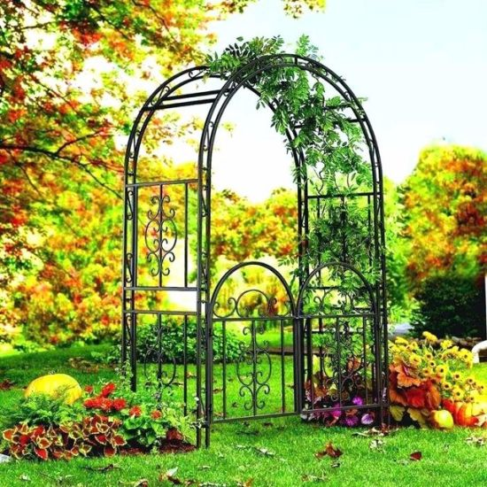 China Unique Wrought Iron Metal Wedding Garden Arch for Plants