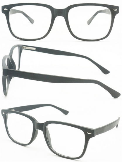 bc82af3d87d China Cheap Fashion Cp Material Wood Finish Square Optical Frames ...