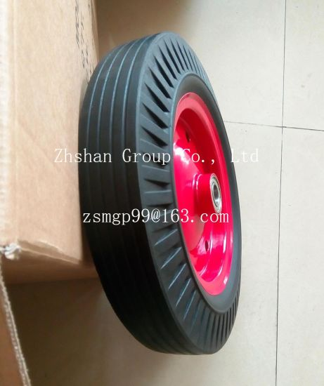 "16"" Solid Rubber Wheel pictures & photos"