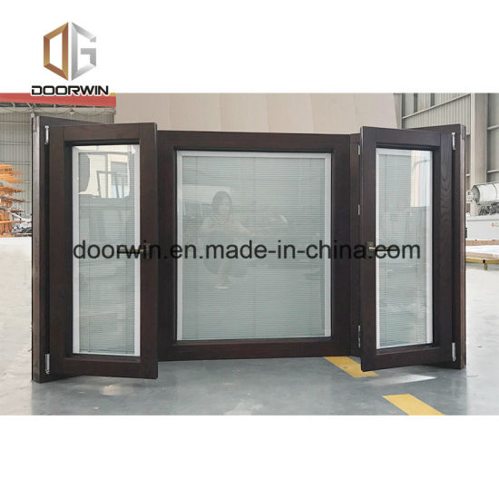 Home Use Exterior Fixed Bay & Bow Window, Customized Size Solid Wood Clad  Thermal Break Aluminum Bay & Bow Window