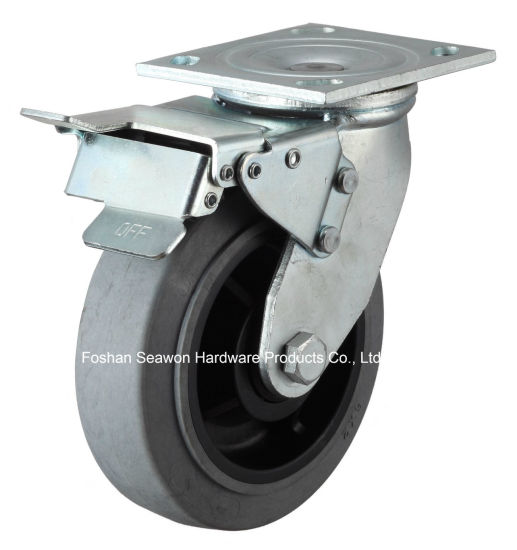 Heavy Duty Swivel Conductive TPR Caster with Brake