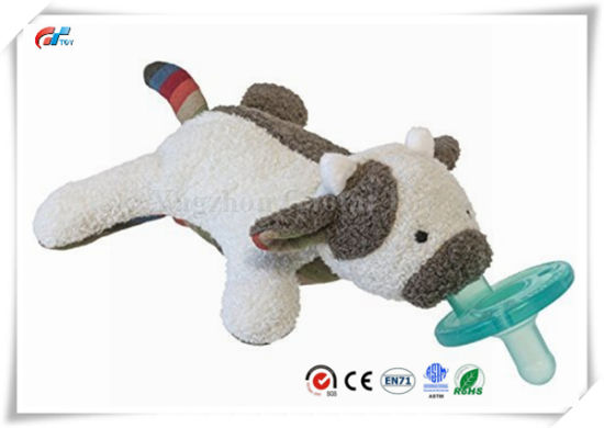 Cute Soft Cow Infant Pacifier Toy Plush