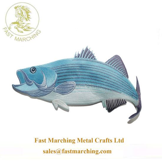 Wholesale Factory Price Badge Fish Cartoon Sew on Embroidery Patches