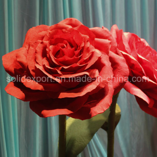 Handmaking Rose Paper Flower Props Decoration for Wedding Shop Window Display Decoration