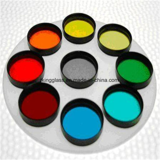 High Temperature Borofloat Glass Color Filter for Night Club Lighting