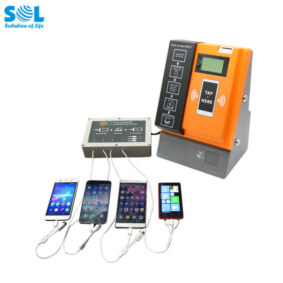 Smart Phone Power Charging Tap Coin WiFi Kiosk Payment Machine pictures & photos