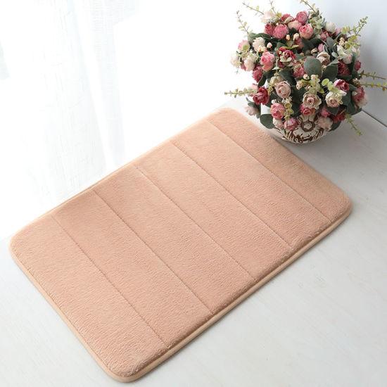 (CHAKME) Wholesale Best Quality Cheapest Door Bathroom Flannel Foam Bath Mat