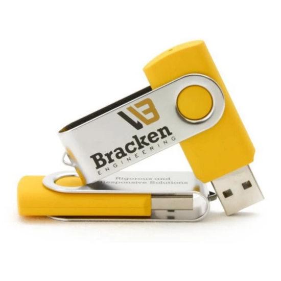 OEM Customized Metal Swivel USB Flash Drive Rotat 2GB 4G 8gig 16GB Metal Twister