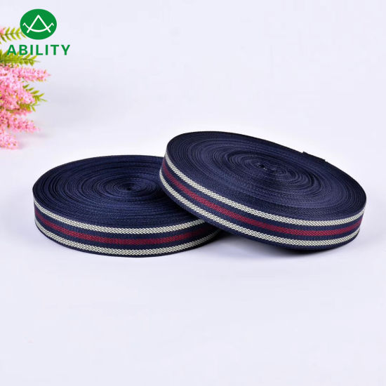 High Tenacity Cotton Strong Popular New Design Webbing Ribbon Tape