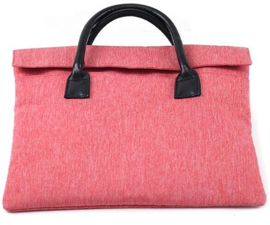 Fashionable Large Capacity Pink Felt Travel Laptop Sleeve pictures & photos