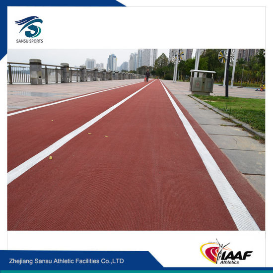Non-Pollution Rubber Running Track for Sports Center, Stadium