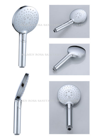 Sanitary Ware Bathroom Shower 3 Function Press Button Easy Operation Hand Shower, New Style with High Pressure Jet