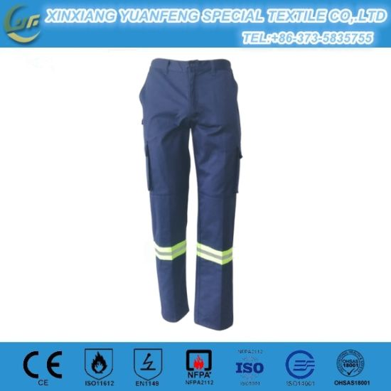 Baggy Navy Blue Cheap Fire Resistant Men's Work Pant for Work