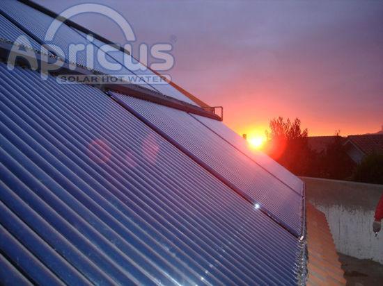 Antifreeze Vacuum Tube Heat Pipe Solar Collector with Solar Keymark