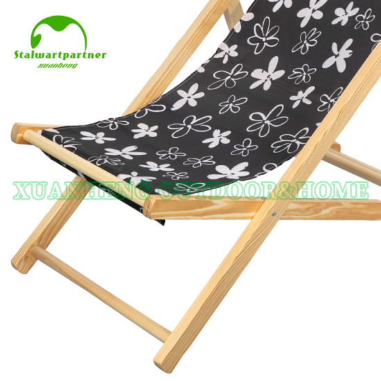 Brilliant China Folding Wood Beach Sling Deck Chair China Wooden Gmtry Best Dining Table And Chair Ideas Images Gmtryco