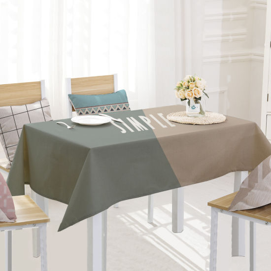 Fashion Stitching Cotton and Linen Printed Tablecloth pictures & photos