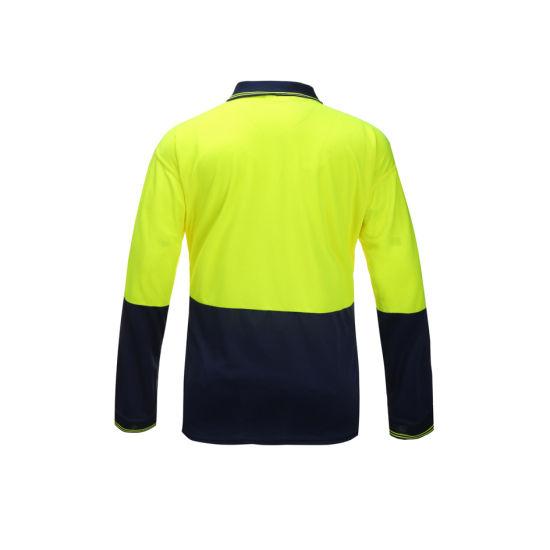 Wholesale Birdeye Dry Fit Hi Vis Reflective Safety Shirts for Man Construction T-Shirt Workwear