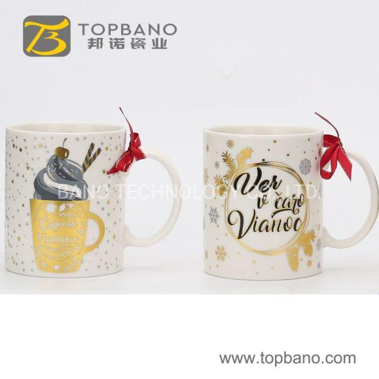 Popular China Porcelain Coffee Christmas Gift Ceramic Office Cup Milk Mug