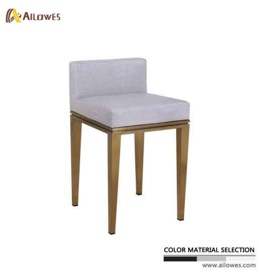 Living Room Metal Titanium Gold Stainless Steel Coffee Watch Shop Fabric Bar Stool Chair
