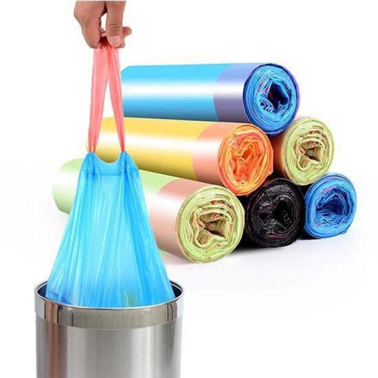 Plastic Overlap Drawstring Trash Bag Making Machine Perforation Continuous Rolling Draw Tape Garbage Bag Making Machine