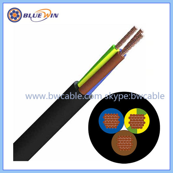 Rubber Flexible Electrical Cable Use in Dry, Damp and Wet Rooms and Outdoors Electric Wire Cable
