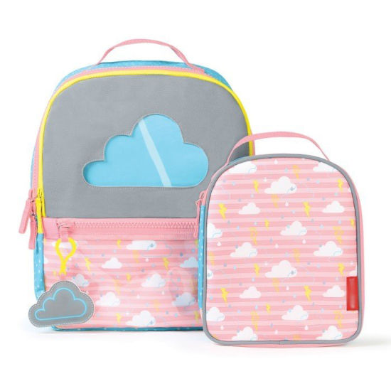 Cartoon Kids School Backpack with Food Picnic Cooler Lunch Bag