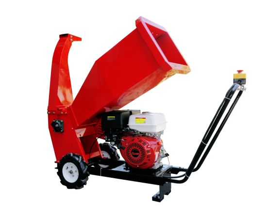China Factory Price 15HP Petrol Engine Mobile Wood Chipper