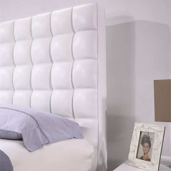 Model Leather King and Queen Size Bed Furniture G7011 pictures & photos