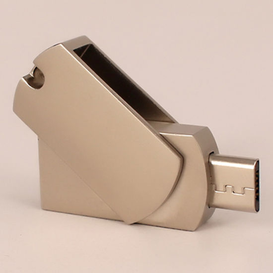 Custom USB Flash Drive Metal Swivel OTG Micro USB Pendrive with Full Capacity pictures & photos