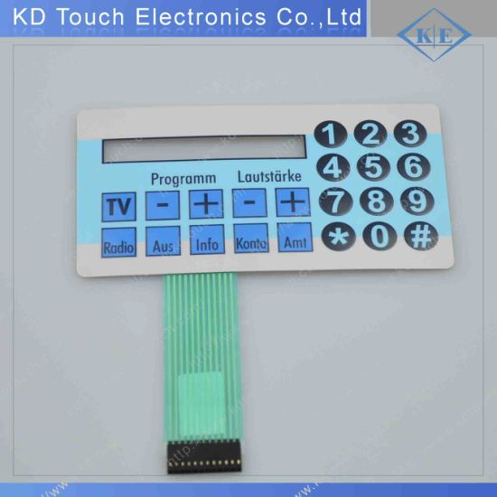 China Push Button Membrane Keypad Switch with King Bright