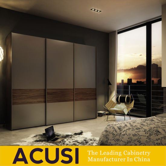Custom Modern Style Sliding Door Bedroom Wardrobe Closet (ACS3 S02)