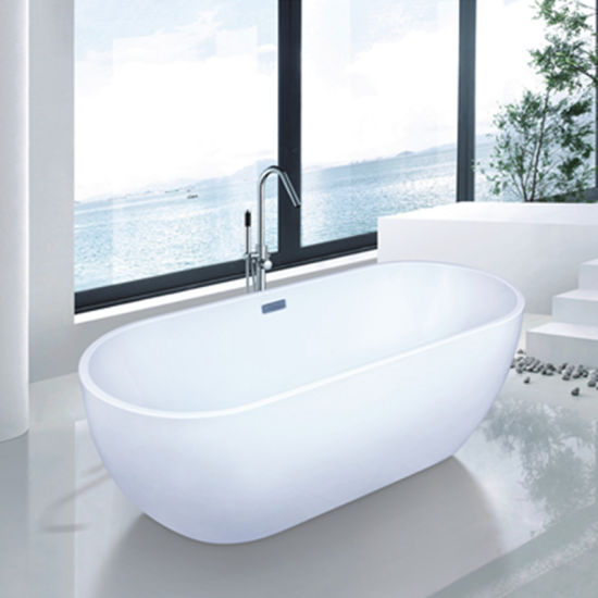 Bathroom Sanitary Freestanding Soaking Bathtub (9006B) pictures & photos