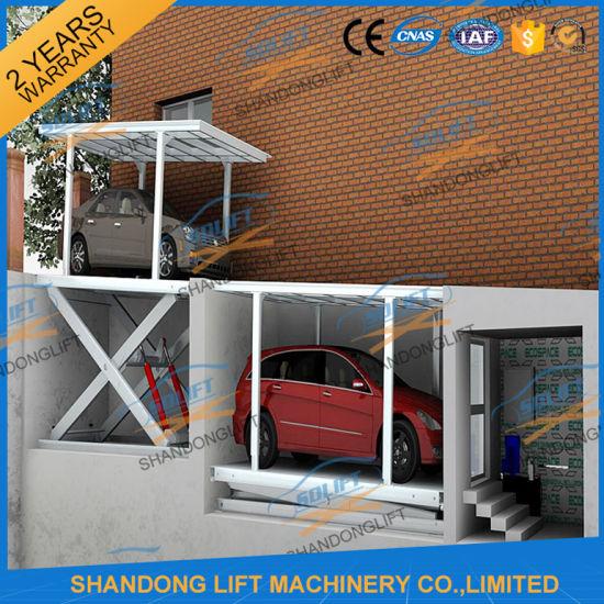 3t 3.5m Hydraulic Scissor Car Self Lift Stacker with Ce