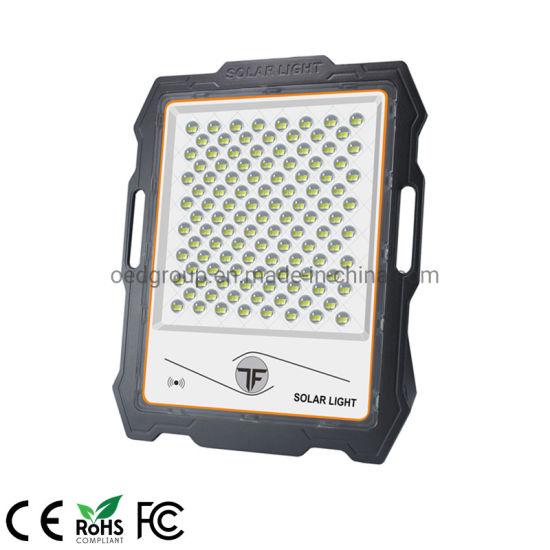 IP67 Portable with Optical Sensor and Motion Sensor 300W Solar Power LED Flood Light