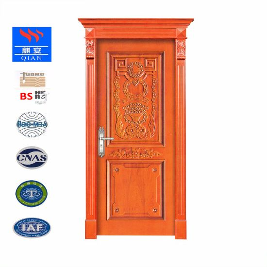 China New Products Solid Wood Interior Door Entry Classic Doors