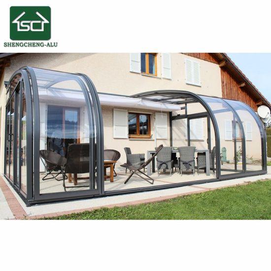 China Aluminium Alloy Lowes Sunrooms Foldable House Tiny Houses