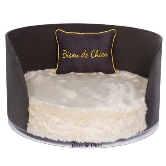 Elegant Hemisphere Acrylic Pet Dog Bed