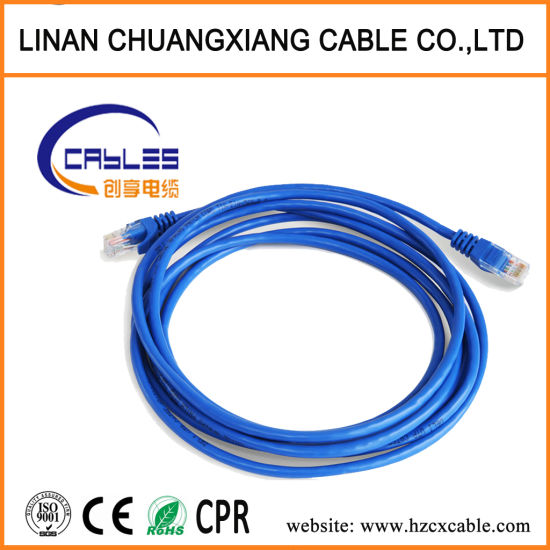 China CAT6 Copper Network Computer Cable Patch Cord 1m - China Patch ...