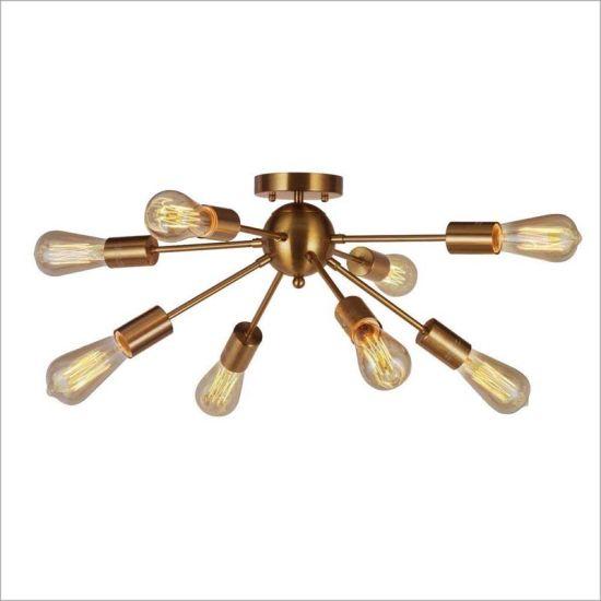 Tremendous Antique Brass Vintage Ceiling Light For Living Room Dining Room Club Interior Design Ideas Tzicisoteloinfo