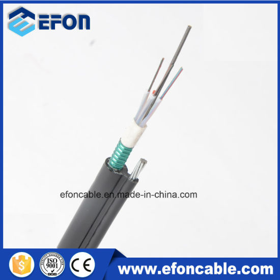 7*1.0 Strand Steel Wires Supporting Cst Armoured Fig 8 Aerial Fiber Optic Cable