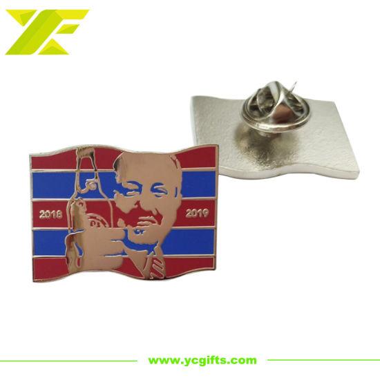 Professional Custom Police Lapel Pin Metal Emblem Soft Hard Enamel Wave Fashion Decoration Accessories Name Badge for Souvenir Gift (BG61-B)
