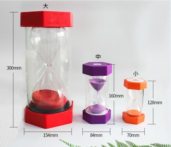 china plastic teaching educational sand timer hourglass for teacher