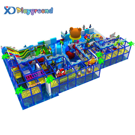 Ocean Themed Soft Children Indoor Playgrounds with Inflatable Toys